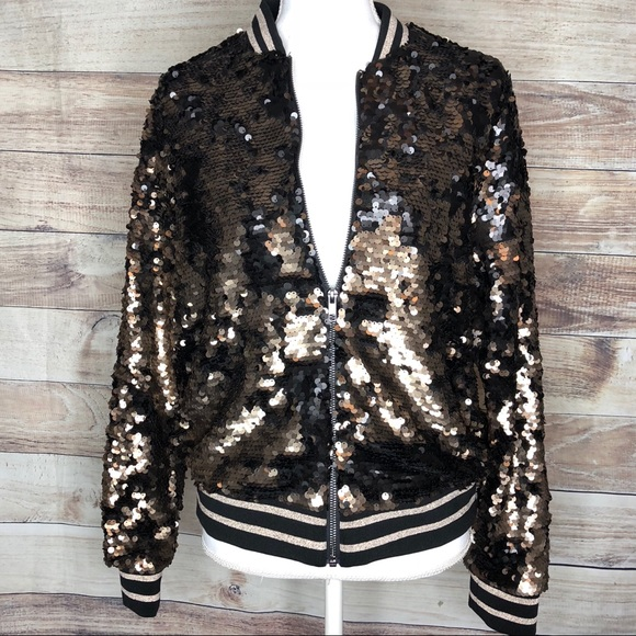 764cc74da Torrid Runway Collection Black Gold Sequin Jacket NWT